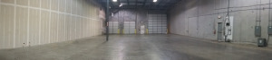 Our brand new warehouse space, prior to moving in.